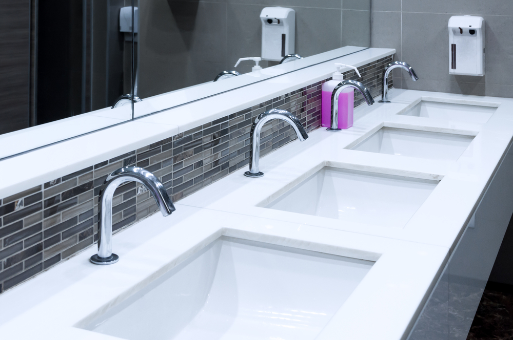 sparkling clean commercial washrooms